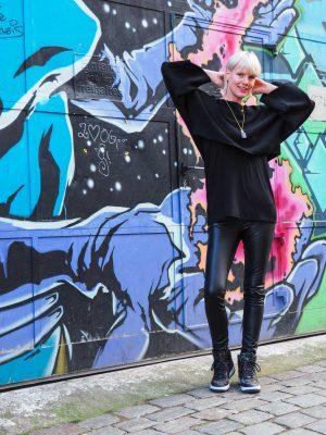 Layerin Look mit Pullover von ZARA
